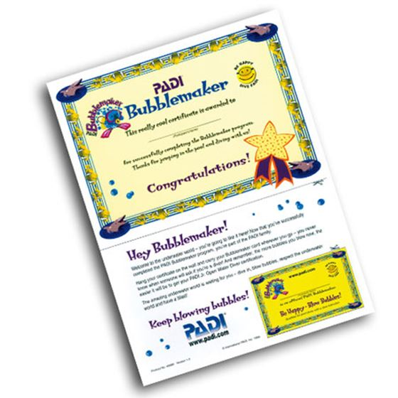 Picture of Certificate BUBBLEMAKER