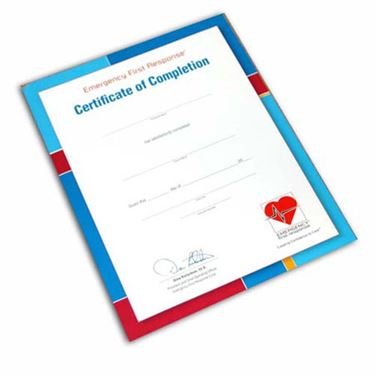 Picture of EFR Participant Certificate