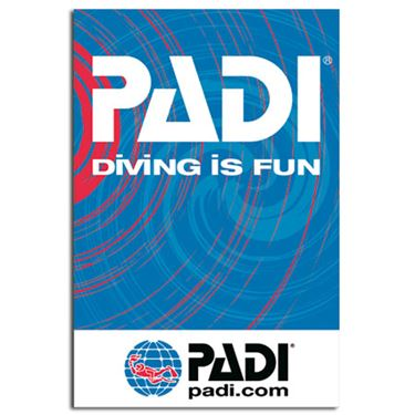 Picture of PADI Giant Flag 200*300 cm Diving is Fun