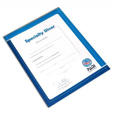 Picture of Certificate SPECIALTY Diver