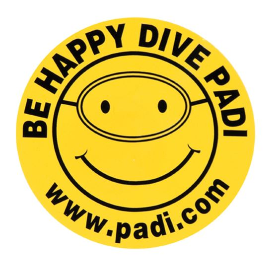 Picture of BE HAPPY - DIVE PADI Decal