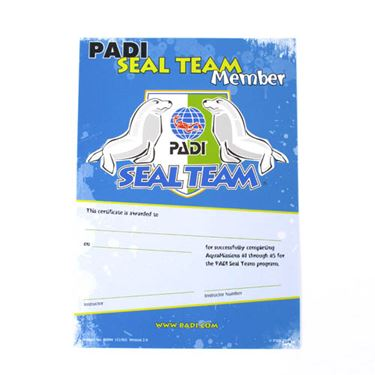 Picture of PADI SealTeam Certificate