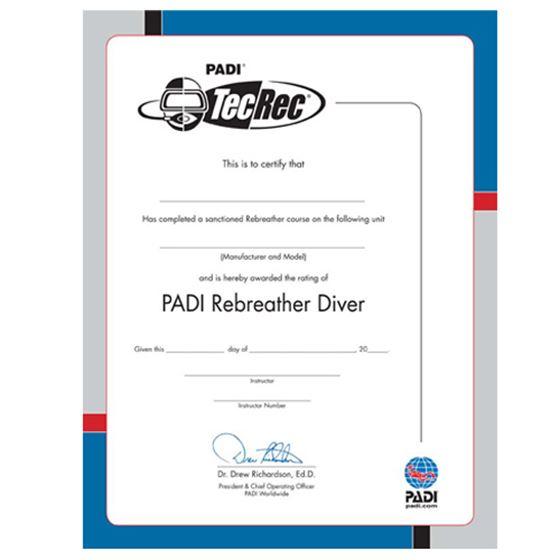 Picture of Certificate - PADI  Rebreather Diver