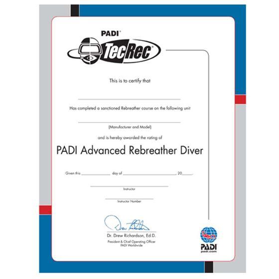 Picture of Certificate - PADI  Advanced Rebreather Diver