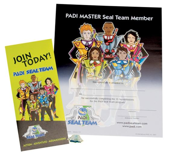 Picture of Recognition Kit - PADI Master Seal Team with Application