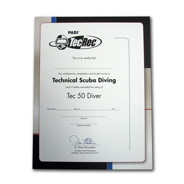 Picture of Certificate - Tec 50 Diver, Wall