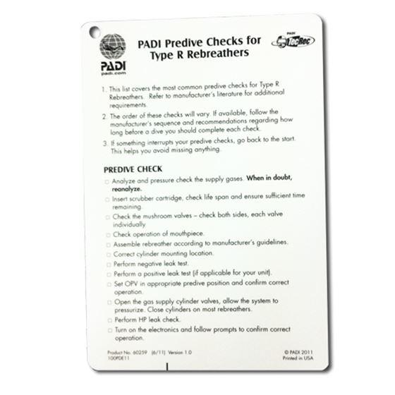Picture of Slate - PADI Rebreather & Adv. Rebreather Predive Checklist