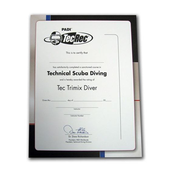 Picture of Certificate - Tec Trimix Diver , Wall