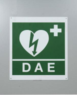 Picture of Cartello DAE frontale per defibrillatore cm.34x36
