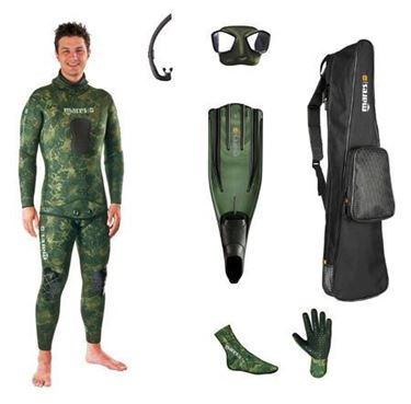 Picture of SET MIMETIC FREEDIVER CAMUFLAGE GREEN