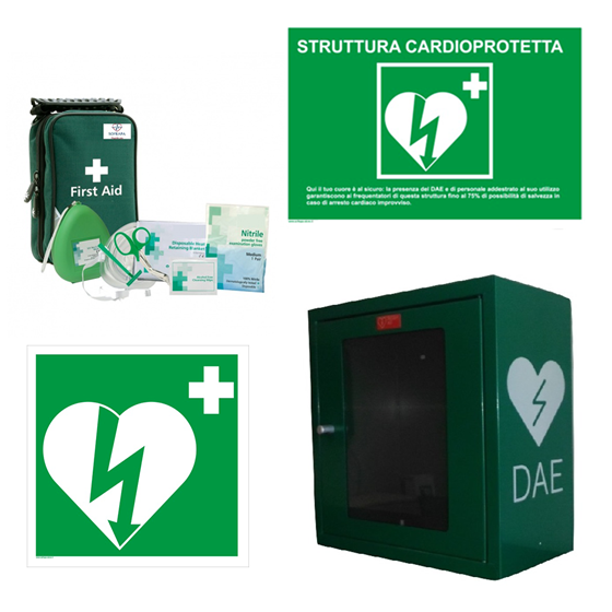 Picture of Kit armadietto + accessori per Defibrillatore AED Easy Placing Kit