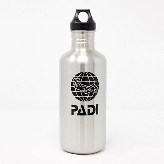 Picture of PADI X Klean Kanteen 64 oz (1900 ml)Bottle - Brushed Stainless